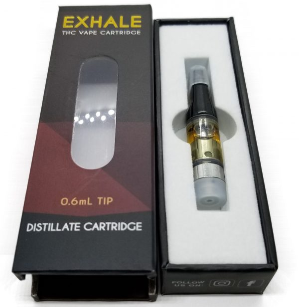 OX - Exhale - Distillate Cartridge 0.6 ml Tip - Opened